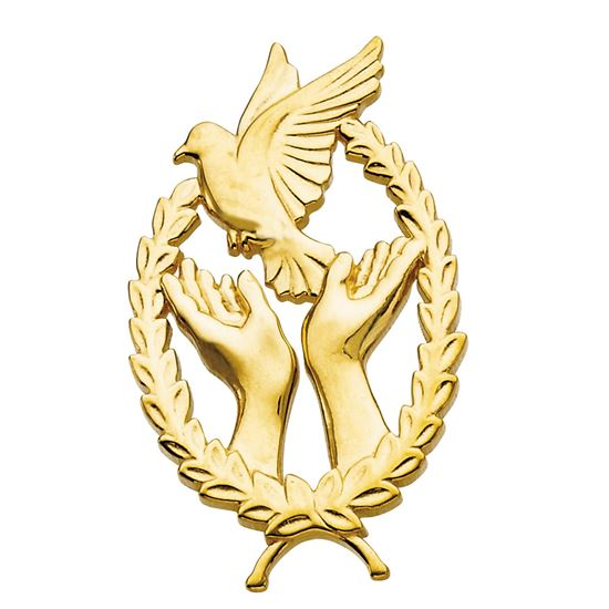 Picture of Wings of Remembrance© Lapel Pin Precious Metal R16784